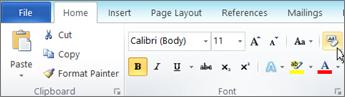 Pada tab Beranda, klik Hapus pemformatan.