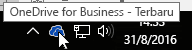 ikon taskbar onedrive for business