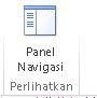 Perlihatkan tombol panel navigasi di Access