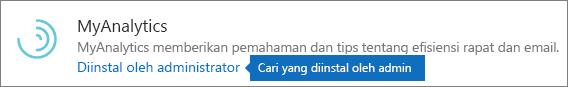 Admin menginstal add-in pada bursa di Outlook.