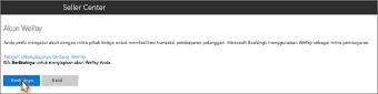 Cuplikan layar: Menyiapkan Nyiiiip, verifikasi akun Anda di Microsoft Bookings