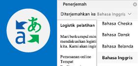 Membaca email Outlook dalam bahasa pilihan Anda