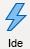 ikon dengan gambar petir