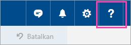 Cuplikan layar tombol Menu Bantuan