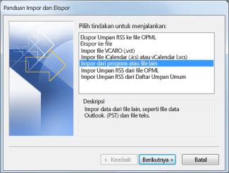 Panduan Panduan Impor dan Ekspor dengan Jangan impor duplikat dipilih