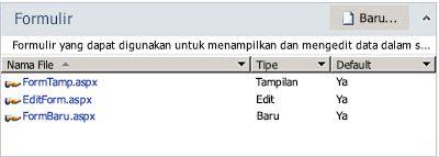 Formulir SharePoint Designer