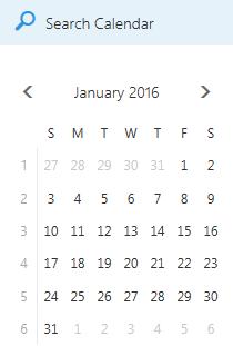 Kotak pencarian Kalender
