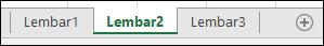 Gambar dari tab lembar kerja Excel