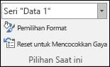 Memilih opsi seri dalam opsi bagan > Format > pilihan saat ini