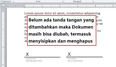 Dokumen tanpa tanda tangan pertama sehingga masih terbuka untuk diubah