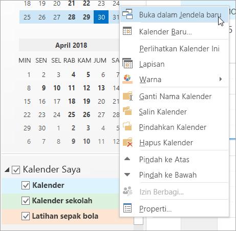 Klik buka di jendela baru di menu klik kanan