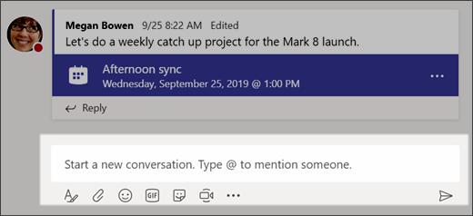 Memulai percakapan baru