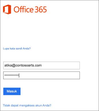 Masuk ke akun organisasi Anda di Outlook