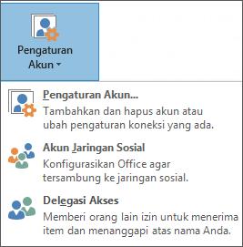 Cuplikan layar menambahkan delegasi di outlook