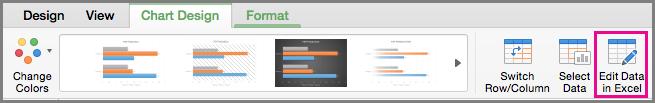 Edit Bagan di Excel Office untuk Mac