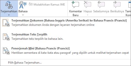 Menerjemahkan dokumen atau pesan