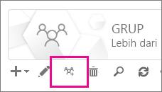 Klik atau ketuk pemutakhiran ke ikon grup Office 365