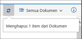 Menghapus status baris di atas layar