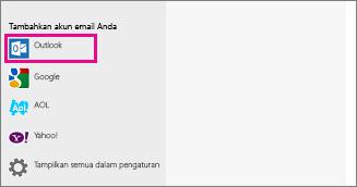 Halaman Tambahkan akun email Anda Windows 8 Mail