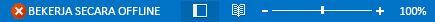 Indikator Bekerja Offline pada bilah status Outlook