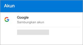 Outlook untuk Android dapat menemukan akun Gmail Anda secara otomatis.