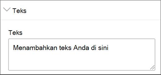 Input teks