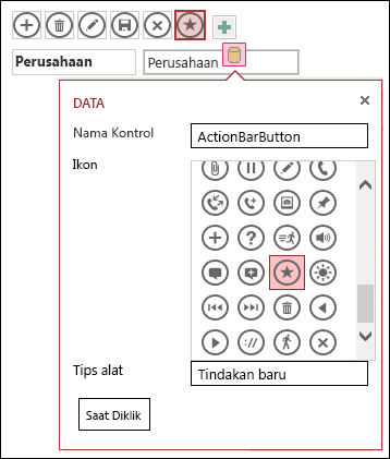 Menambahkan kontrol kustom dalam aplikasi access