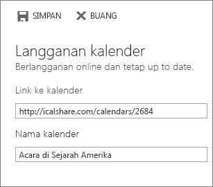 Link ke kalender online