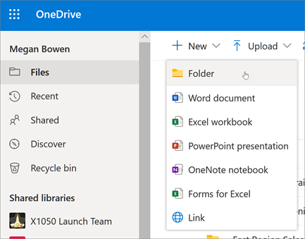 Membuat Folder di OneDrive