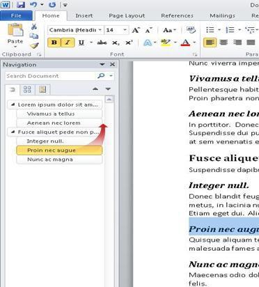 navigasi dokumen