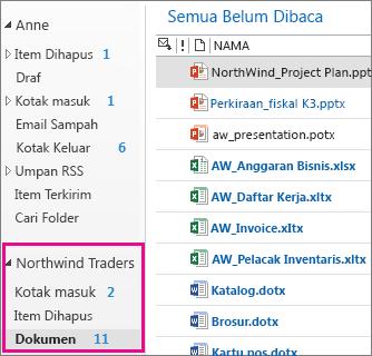 Kotak surat situs di Outlook