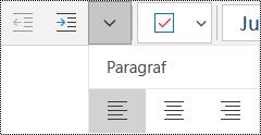 Meratakan paragraf ke kiri di aplikasi OneNote untuk Windows 10