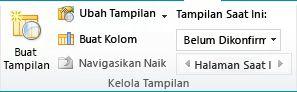 Tampilan close up grup Kelola Tampilan