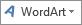 Ikon WordArt sedang