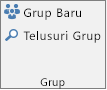 Tombol Grup Baru dan Telusuri Grup pada pita