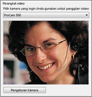 cuplikan layar opsi audio