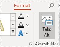 Tombol AltText untuk sebuah bentuk di PowerPoint untuk Windows