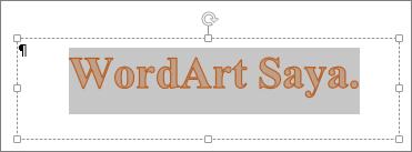 WordArt yang dipilih