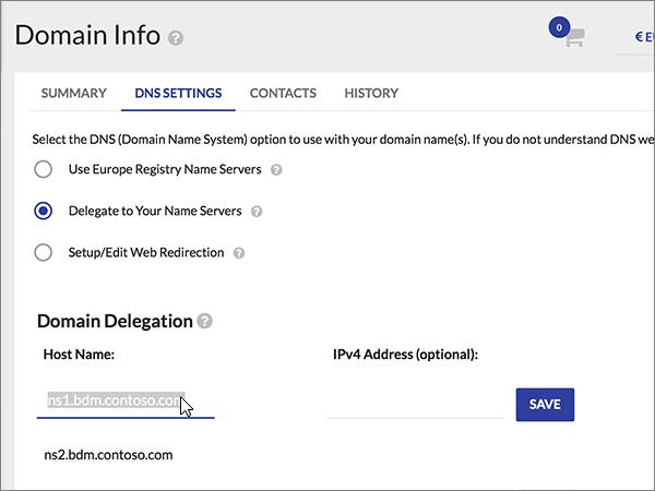 Pilih entri Nama Host dan tekan Hapus