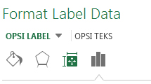 Format panel label Data