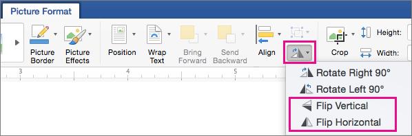 Pada tab Format gambar, objek memutar disorot