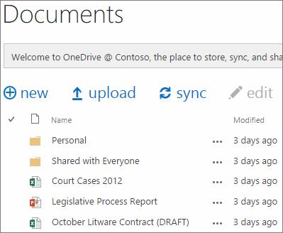 lihat dokumen OneDrive untuk bisnis