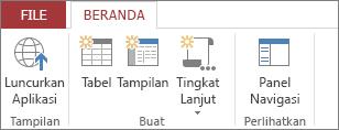 Simpan aplikasi Anda dan luncurkan dalam tampilan browser.