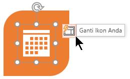 Jika Anda tidak menyukai ikon disarankan, Anda bisa dengan mudah menggantinya