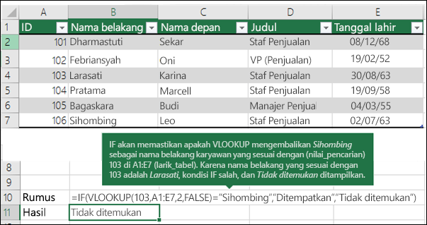 Contoh VLOOKUP 3