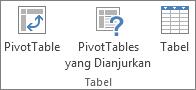 Grup tabel pada tab Sisipkan