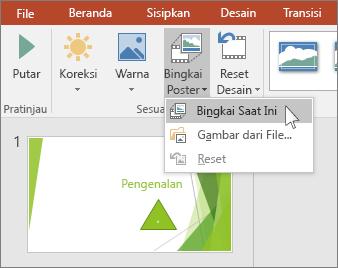memperlihatkan opsi video bingkai poster di powerpoint