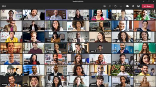 Tampilan galeri yang besar memperlihatkan 49 video sekaligus