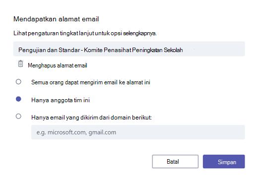 Dapatkan email