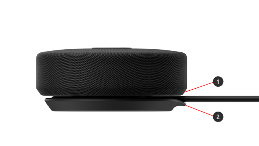 Penyimpanan kabel untuk Speaker USB-C Modern Microsoft